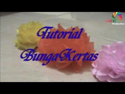 DIY Simple Paper Flower Tutorial Bunga Kertas