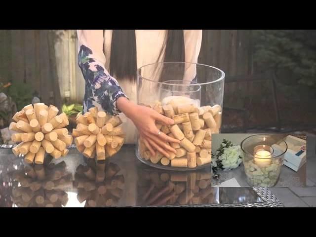 DIY Wine and Cork themed Decoration ideas