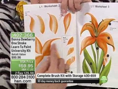 Donna Dewberry One Stroke Learn To Paint University Kit