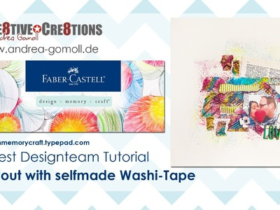【Faber Castell - Design Memory Craft】 Guest Designteam Project #1 - funky Scrapbook Layout