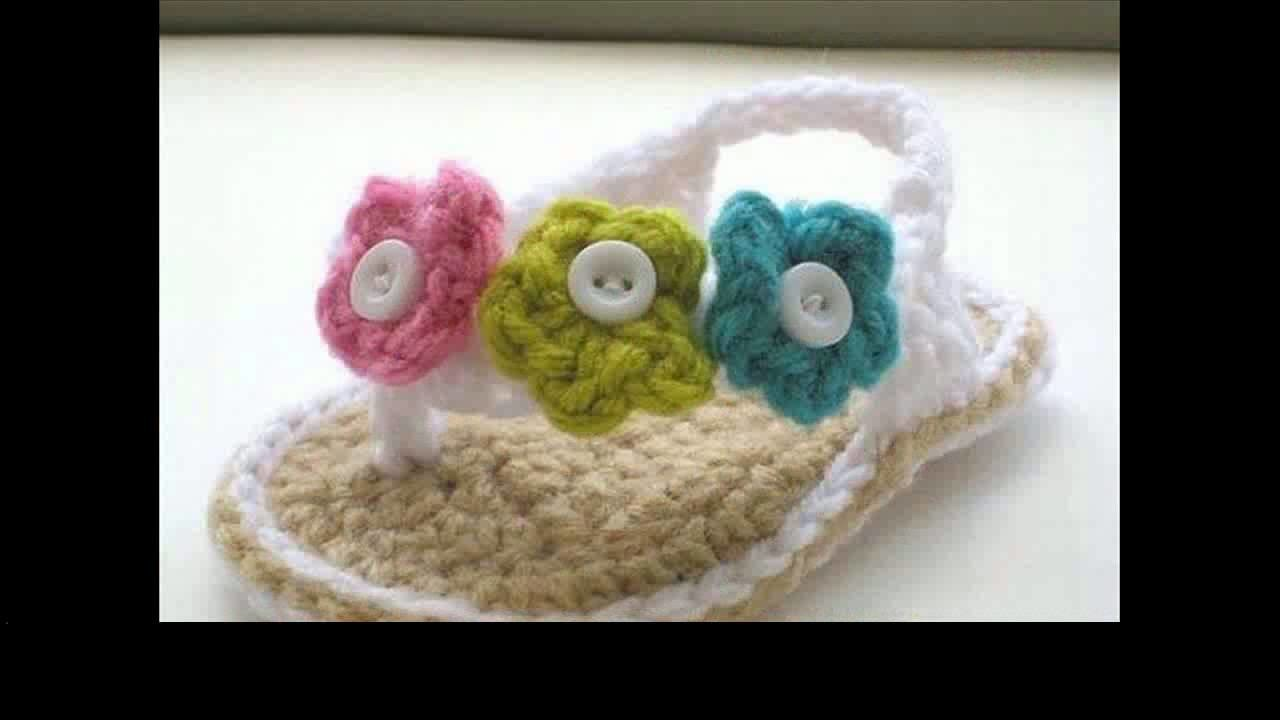 Easy crochet baby sandals project