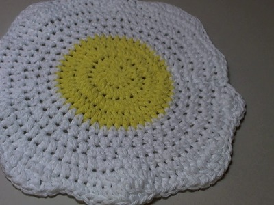 Easy crochet Egg shape dishcloth