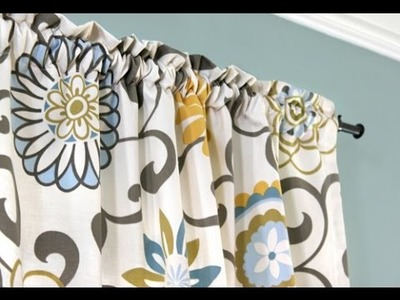 Easy DIY Curtains - How to Make a Rod Pocket Curtain