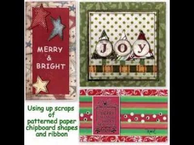 Easy DIY Scrapbooking christmas card ideas