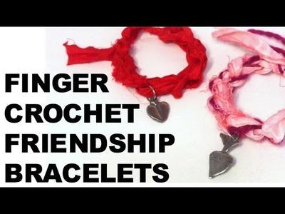 Easy Finger Crochet Friendship Bracelets