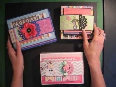 Fold-out Folio Scrapbook Mini Album (Tutorial available)