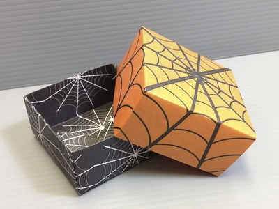 Halloween Origami Spider Web Pattern Boxes - Print Your Own Paper!