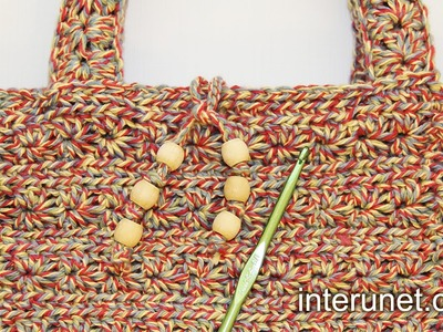 How to crochet a handbag - women's purse crochet pattern