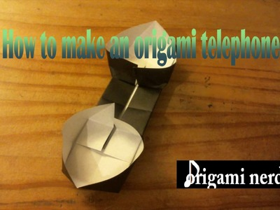How to fold an origami telephone (Easy)