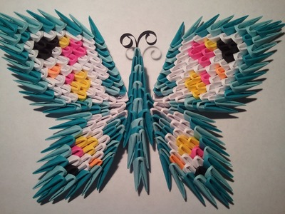 How to make 3d origami butterfly #1 with magnet