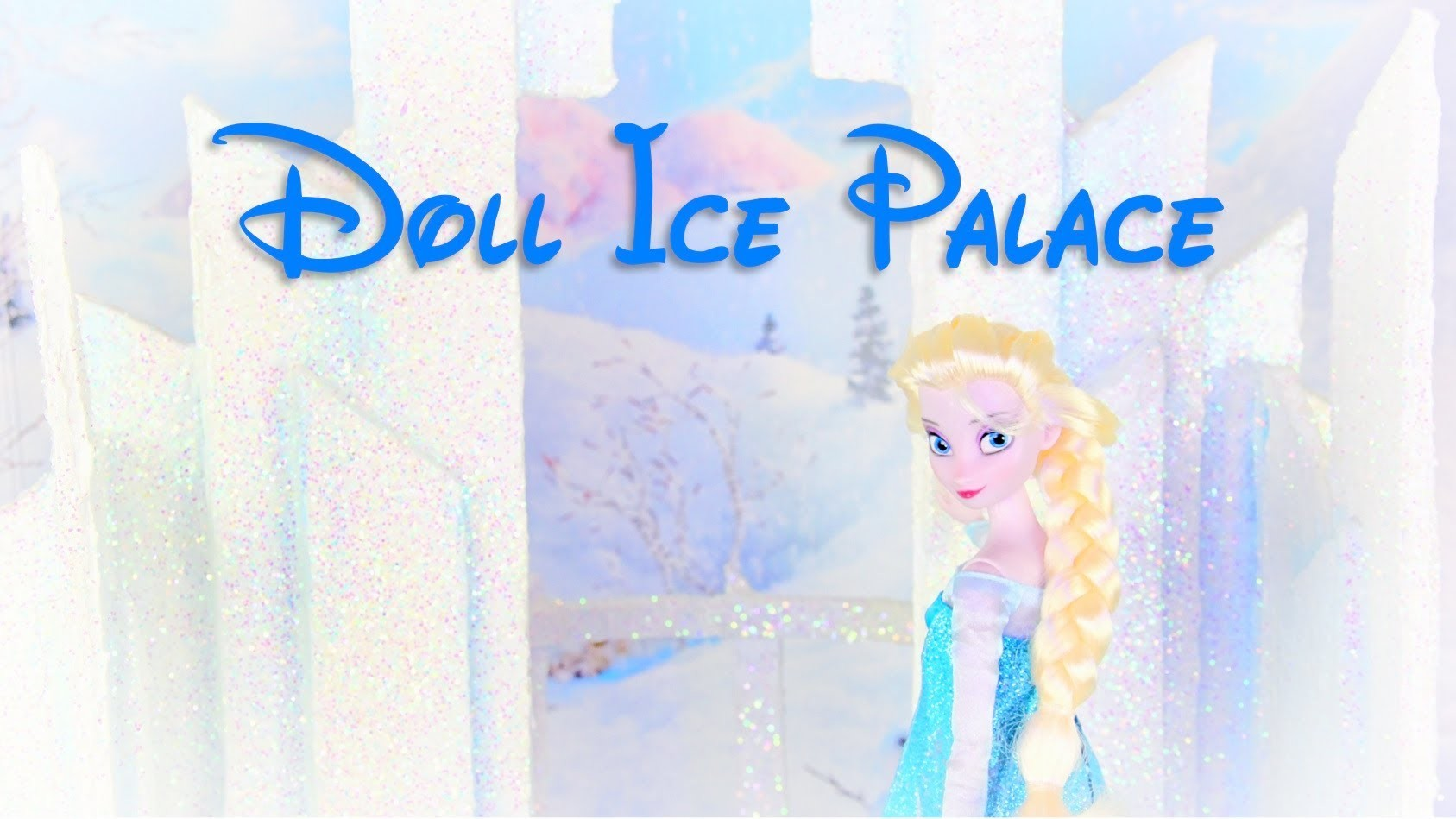 How to Make a Dollhouse: Frozen Ice Palace - Doll Crafts