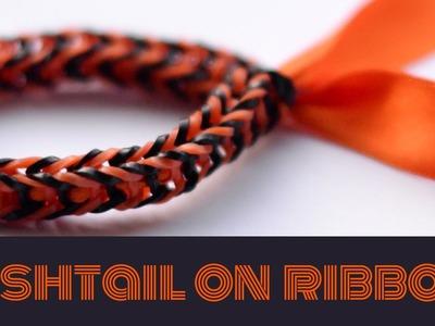 How to make a Fishtail bracelet on ribbon: Rainbow Loom Bracelet Tutorial