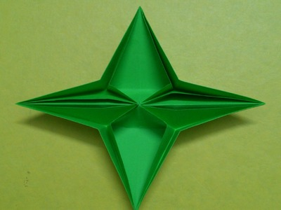 How to make a Four Pointed paper Star or Pop up Star.