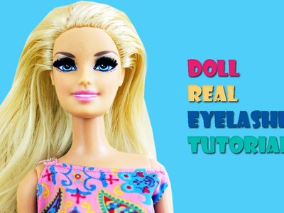 How to Make Doll Eyelashes- Doll Crafts