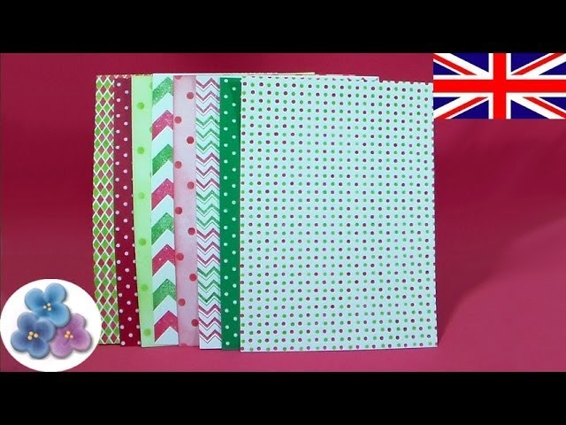How to paper Christmas DIY *Make Paper for Scrapbook Ideas* Paper for Craft Cardstock Mathie