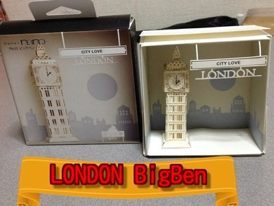 I made with paper only the Big Ben of buildings in London