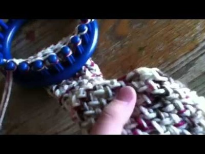 Knifty knitter red scarf