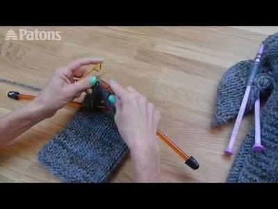 Knitting the Easy Saturday Cardigan using Patons Misty Yarn