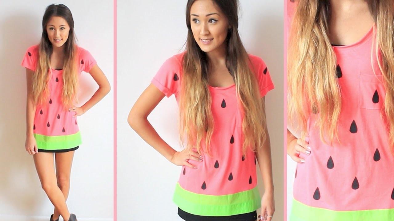 Last Minute DIY Halloween Costume: Watermelon!