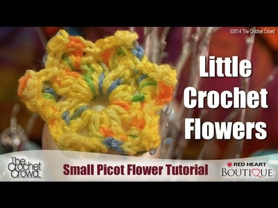 Learn How to Make a Small Picot Crochet Flower