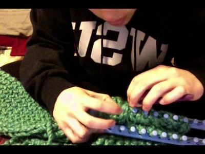Loom Knitting: Scarf Part 2