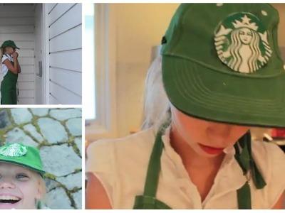 #MACERWEEN! DIY Starbucks Halloween costume + Diy Starbucks Iphonecase