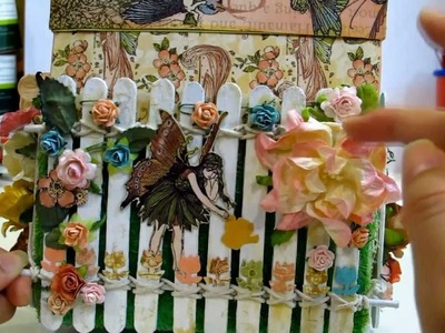"""Magical Explosion Box w Once Upon Springtime: IAMROSES """"In The Garden"""" Contest Entry"""