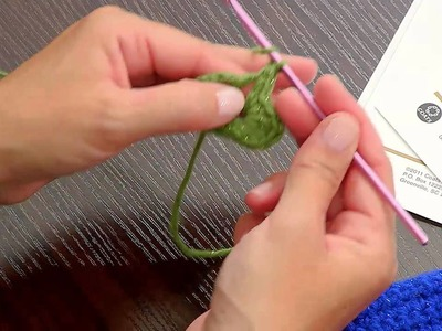 Making a Crochet Flower with Red Heart