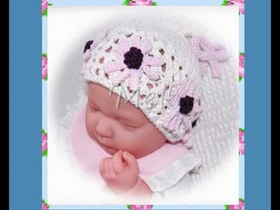 Mel Daisy Multisize Baby or Reborn Doll Hat Double Knitting Aran and DK Yarn Knitting Pattern