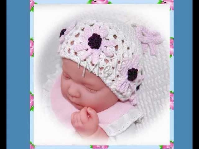 Mel Daisy Multisize Baby or Reborn Doll Hat Double Knitting Aran and DK Yarn Knitting Pattern