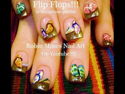 Nail Art Tutorial | Summer Nails | DIY EASY flip flop nail design