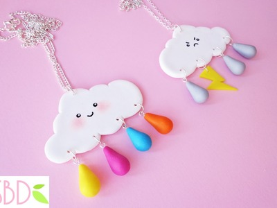 Nuvole kawaii in fimo tutorial - DIY kawaii fimo clouds