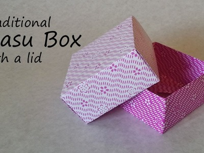 Origami Masu Box with Lid: Tutorial