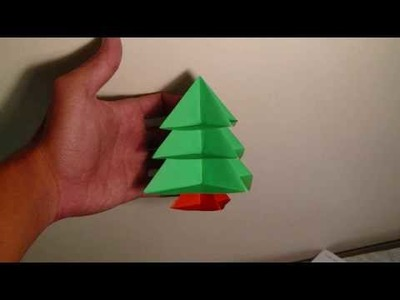 Origami modular christmas tree instructions