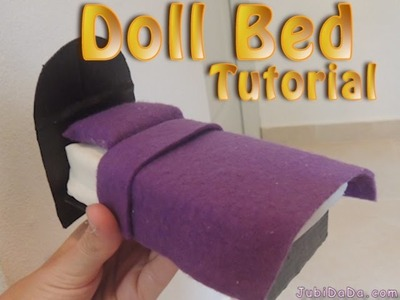 Polly Doll Bed & Barbie Doll Bed Tutorial