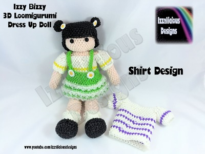 Rainbow Loom Loomigurumi Izzy Bizzy Doll - T Shirt - crochet hook only