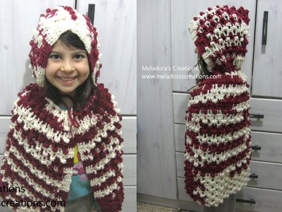 Red Riding Hood Cape and Hood - Left Handed Crochet Tutorial