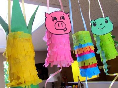 Reuse Toilet Paper Tubes Mini Pinatas Craft idea