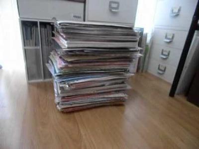 Scrapbooking paper purge. Ugh! (8.6.12)