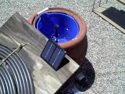 Solar Powered Water Fountain - simple DIY water feature (for pond.birdbath or other display)