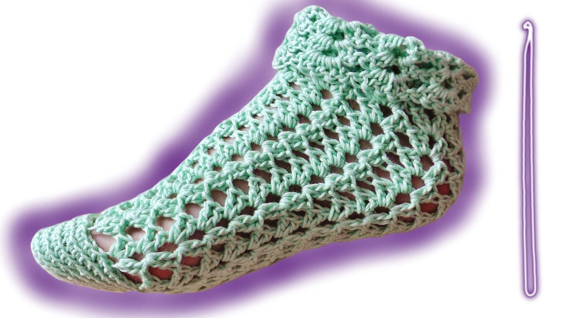 Summer socks advanced crochet tutorial - Woolpedia