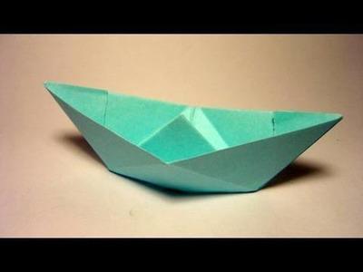 Traditional Origami Boat - Barquinho de origami tradicional
