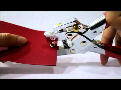 Tutorial : How to use 2 in 1 Eyelet Plier
