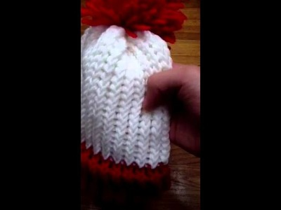 Wheres Waldo hat made with Knitting Looms