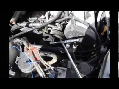 03 Hyundai Tiburon 2.7L v6 water pump DIY part 2 of 2
