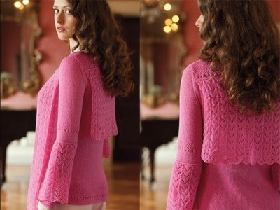 #13 Lace Overlay Cardigan, Vogue Knitting Early Fall 2013