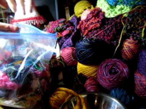 16. Left Over Yarn Chain Knitting Project - Part 1