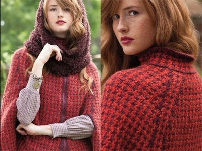 #3 Fur Snood and #4 Houndstooth Cape, Vogue Knitting Fall 2013