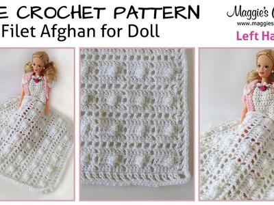 Baby Doll Filet Afghan Free Crochet Pattern - Left Handed