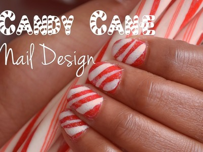 Candy cane nail art for short nails! | Nik Scott